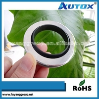Factory price with oil resistance gearbox shaft double lips teflon PTFE stainless steel oil seal