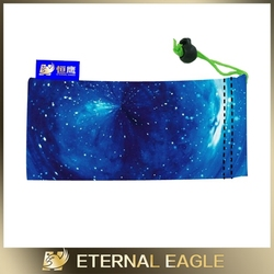 Wholesale digital printed sunglass pouch drawstring, microfiber sunglasses drawstring pouch,microfiber eyeglass drawstring pouch