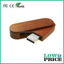 2015 Top selling cheapest bamboo swivel usb flash drive wholesale