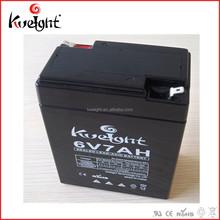 Valve regulated sealed lead acid battery 3 fm 7 battery 6V7Ah cell for ups