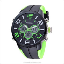 Sports watch dual time watch,quartz digital watch,multifunction watch