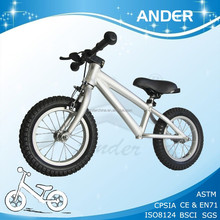 Bmx poussoir vélo sable dynamitage et anodisation finition Alu draisienne