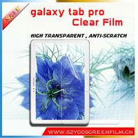 China Manufacturer 2014 Hot Selling For Galaxy Tab Pro Clear Screen Protector Film