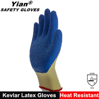 New design high temperature latex coated heat resistant gloves