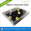 48 pcs macaron container clear plastic macaron packaging box wholesale of 3 5 6 9 12 24 30 36 48pcs