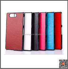 Free Sample 2015 pu leather phone case cover for sony xperia z3 mini