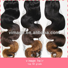 vimage hot sell unprocessed virgin human hair ombre hair weaves