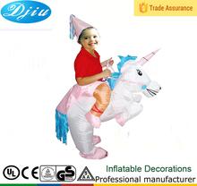 Dj-co-206 gonfiabile unicorno costume a cavallo cavallo adulto costume size halloween cavallo cavaliere