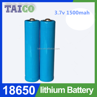 New product 18650 rechargeable 1500mah lithium ion battery
