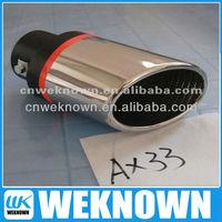 universal exhaust 304 stainless muffler for car