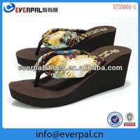 portable good for walk high heel wedges flip flop