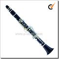 Chapado en plata 17 llaves Kb ébano clave clarinete(CL3200S)