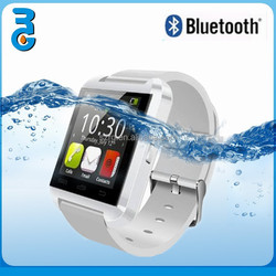 [White]2015 Newest fashion touch screen bluetooth watch for iphone6 wifi smart watch, smart bluetooth wrist watch, watch phone