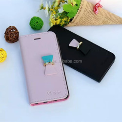 Slim Flip PU Leather Cell Phone Case for iPhone 6, Leather Wallet Mobile Phone Cover for iPhone 6, PU Leather Stand Phone Case