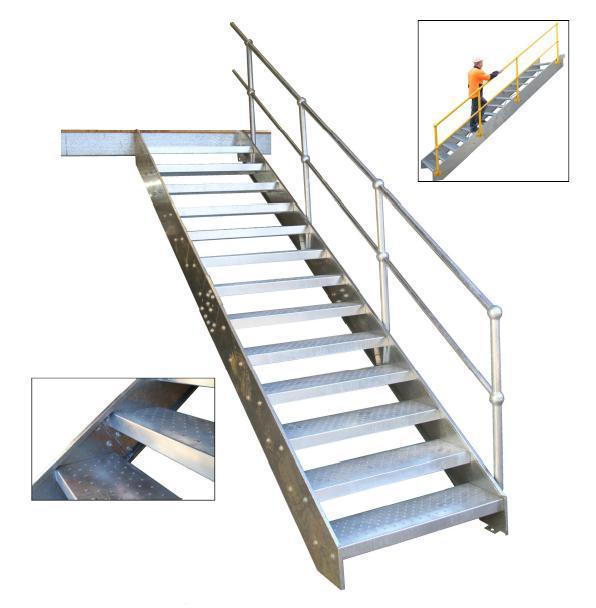 Attirant [Runtan]high Quality Strair Tread/grating Stair Tread/galvnaized Steel Metal  Graiting Stair Tread