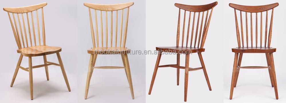 Moderna silla de comedor de madera maciza silla windsor for Almohadones para sillas windsor