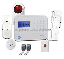 SMS notice and SMS control gsm wireless home alarm system with FM 315/433mhz support,RFID feature keypad for entrance