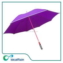 23 inches purple color solar power umbrella light