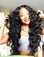 Top Beauty Stock Natural Color 22 Inch Loose Wave Brazilian Human Hair Glueless Lace Wig