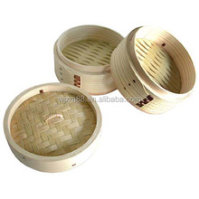 bamboo food steamer with round & square shape, sushi rice steamers set wholesale