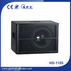cheap mini subwoofer speaker hd-110s 400w 10 inch subwoofer
