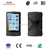 Android quad core smart phone with wifi, 3g, gps,gprs,bluetooth,barcode scanner, rfid reader, corewise fingerprint tablet pc
