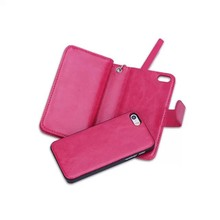 Luxury Separable Wallet Leather Flip Card Holder Cover Case For iphone 5 5s