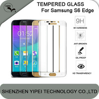 S6 Edge Screen 3D Protector Tempered Glass Full Cover Curved Glass 9H Hardness Explosionproof Anti-Scratch Screen Protector