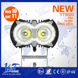 Excellent 12v 24v led auto light off road led work lights high power motorcycle headlight