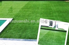 grueso natural verde artificial paisajismo césped greensward para la jardinería