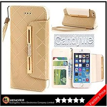 Keno Elegant Design Wallet Leather Case Cover for iPhone 6 With Strap