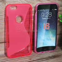 Various Types 8 Colors Anti-skid Soft TPU GEL Skin Case Cover For Apple for iphone 6 Mobile Phone Protective Rubber Case