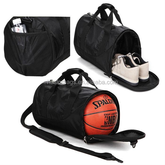 Gym hommes sport duffle sac avec chaussures compartiment