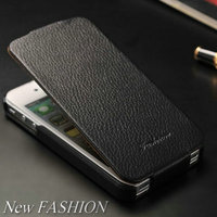 Online shopping on alibaba website new make custom flip phone case for Iphone 4 + 4S using genuing leather lithci style