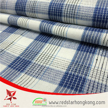 Factory Price check printed cotton fabric