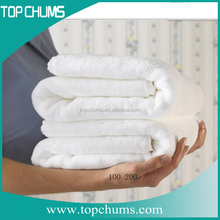 100% cotton Unbleached solid terry 100% cotton hotel dobby border towels with embroidery