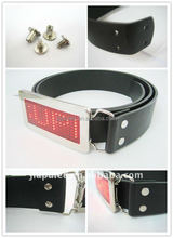 Belt with LED buckle,belts with changeable adjustable belt buckle