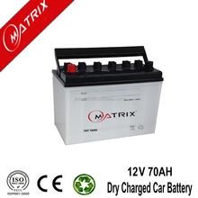 JIS Lead acid 12V 70AH dry charged car battery