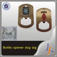 Custom Zinc Alloy Bottle Opener keychain coin, bottle opener dog tag