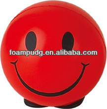 high quality and colorful smiley PU /Rubber stress balls
