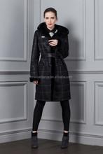 2015 New Style Cheap Thick Woman PU Coat