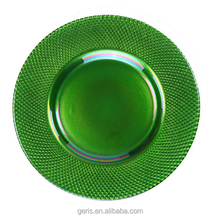 GRS Nice Green Glass Charger plates