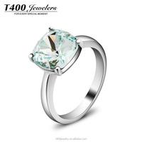 T400 2015 new fashion stain steel jewelry wedding ring crystal from Swarovski