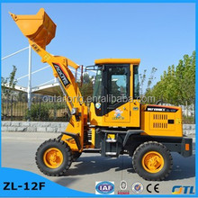 0.6ton small front end wheel loader ZL-12F used low prices with CE