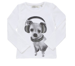 fashion long sleeve baby dog printing kids traditional wear