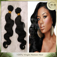 """Natural color body wave 18"""" virgin Indian hair weave with top grade 5A"""
