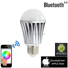 7W E27 Touch Remote 7W E27 Touch Remote Control Combo Bluetooth 4.0 LED Light Bulb Smart Light Bulb Color Changing