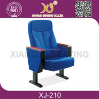 2015 Modern Design Auditorium Hall Cinema Theater Chair, Fixed Auditorium Seating For School Lecture Hall XJ-210