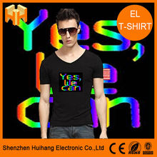 EL panel new style party sound actived flashing man EL t-shirt