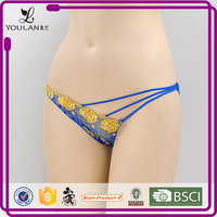 professional lingerie gloden sexy new design g string panties